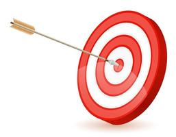 objetivo y flecha para disparar