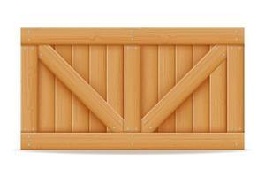 caja de madera para la entrega y transporte de mercancías vector