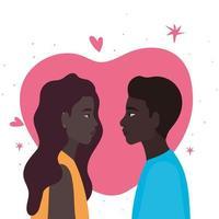 pareja negra de mujer y hombre