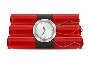 Dynamite red stick with fuse vector