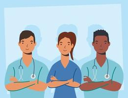 Medical staff, essential workers characters