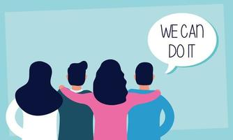 We can do it message with people together vector