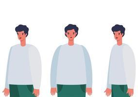diseño de dibujos animados de avatar de hombres
