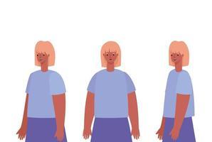 diseño de dibujos animados de avatares de mujeres