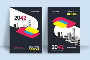 City Background Business Book Cover Design Template