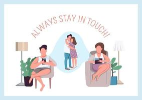 Always stay in touch poster vector