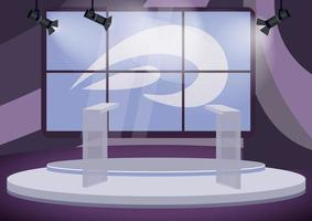 Political talk show studio vector
