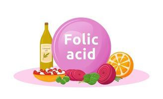 Products rich of folic acid