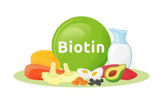 Products containing biotin