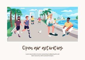 banner de actividades al aire libre vector