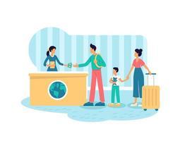 solicitud de visa de turista vector