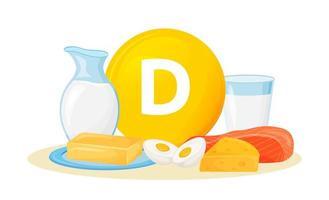 Vitamin D food sources vector