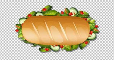 Sandwich on transparent background vector