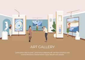 cartel de la galería de arte vector