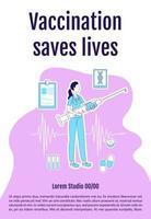 cartel de vacunación salva vidas vector