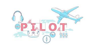 palabra piloto conceptos palabra vector