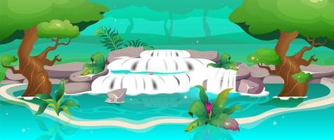 selva con agua vector