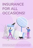 Insurance for all occasions poster vector