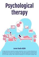 Psychological therapy poster vector