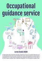 cartel del servicio de orientación ocupacional vector