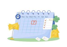 Tuesday 7th calendar vector
