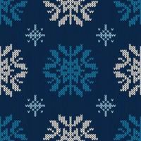 Christmas snowflake knitted pattern vector