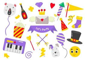 Party elements for banner vector