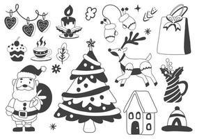 Christmas label logos for banner vector