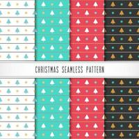 Winter holiday patterns with snowflake and tree