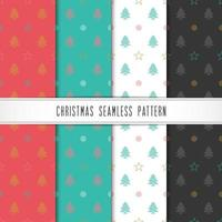 Winter holiday patterns with snowflake, star and tree