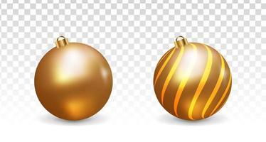 3D Golden Christmas Balls