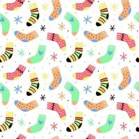 Hand drawn socks pattern vector