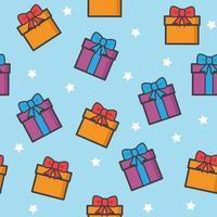 Christmas Gift Seamless Pattern vector