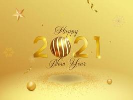 Golden New Year 2021 Background vector