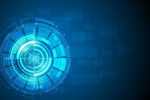 círculo azul concepto de innovación tecnológica abstracta vector
