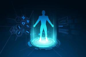 Medical human body diagnostics background