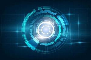 Círculo azul abstracto tecnología innovación concepto vector fondo