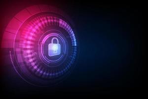 Fondo de tecnología digital de seguridad abstracta. vector de ilustración