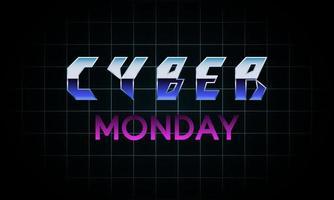 Futuristic Cyber Monday banner design. vector