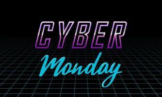Futuristic Cyber Monday design template. vector