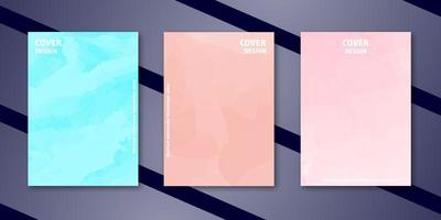 Abstract watercolor bussieness cover set