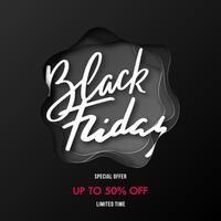 Black Friday Sale banner design. vector
