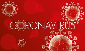 Coronavirus scientific red banner vector