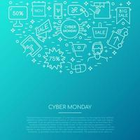 Cyber Monday icons collection.