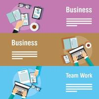 Business and corporate template banner set vector