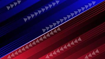 Abstract red and blue futuristic speed design with arrow