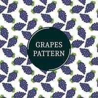 Tropical blue grape bunches pattern