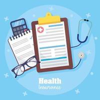 Health insurance service concept composition vector