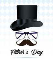Father's Day card with elegant top hat