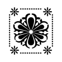 Mexican sunflower icon with small suns vector